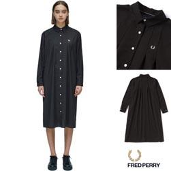 FRED PERRY フレッドペリー / レディースプリーツドレス (F8442) Black -送料無料-