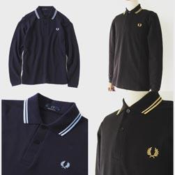 FRED PERRY フレッドペリー / ロングスリーヴラインポロシャツ(M7115)