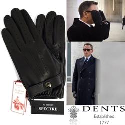 DENTS デンツ / ヘアシープグローヴ(15-1007 James Bond - Spectre) Black -送料無料-
