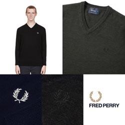FRED PERRY フレッドペリー / クラシックVネックセーター(K4500) -送料無料-2018-1103-251.jpg