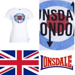 LONSDALE ロンズデール / レディースターゲットTシャツ White
