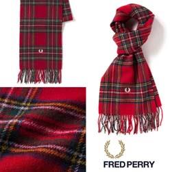 FRED PERRY フレッドペリー / ロイヤルスチュワートタータンスカーフ(C2114) Red