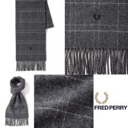FRED PERRY フレッドペリー / タータンスカーフ(SC4073) Grey