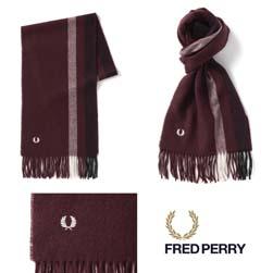 FRED PERRY フレッドペリー / ティップドスカーフ(C4111) Stadium Red