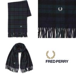 FRED PERRY フレッドペリー / タータンストール(F19879) Navy -送料無料-