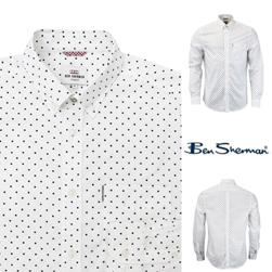 Ben Sherman ベンシャーマン / クラシックポルカドットボタンダウンシャツ White