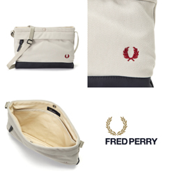 FRED PERRY フレッドペリー / ピケサコッシュバッグ(F9543) Oyster