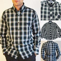 NEVERTRUST ネバートラスト / タータンチェックボタンダウンシャツ(NEN-99101) White x Green x Navy -送料無料-