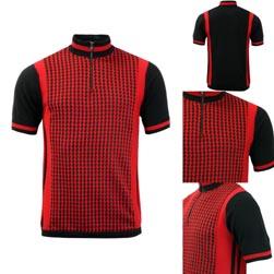MADCAP ENGLAND マッドキャップイングランド / 60s モッドニットサイクリングトップ(Zig Zag Wanderer) Black x Red