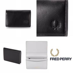 FRED PERRY フレッドペリー / レザーカードケース(F19868) Black -送料無料-