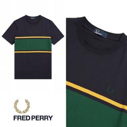 FRED PERRY フレッドペリー / カラーブロックTシャツ (F5574) Navy