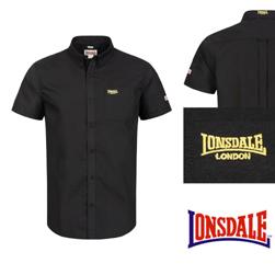 LONSDALE ロンズデール / プレーンボタンダウンシャツ Black -送料無料-