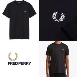 FRED PERRY フレッドペリー / リンガーTシャツ(M3519) Black