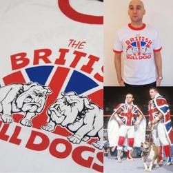 NEVERTRUST ネバートラスト / Tシャツ(BRITISH BULLDOGS) White × Red