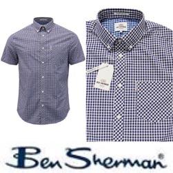 Ben Sherman ベンシャーマン / ギンガムチェックボタンダウンシャツ Blue Depths -送料無料-