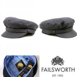 FAILSWORTH フェイルスワース / 60s レトロモッドアイリッシュリネンマリンキャップ Navy