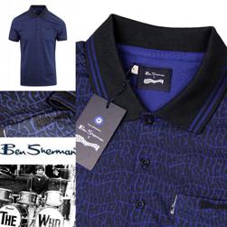 Ben Sherman ベンシャーマン / キースムーンシグネチャーポロシャツ Ink Blue