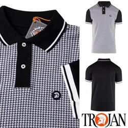 Trojan Records トロージャンレコード / ドッグトゥースポロシャツ Black