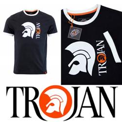 Trojan Records トロージャンレコード / ヘルメットロゴリンガーTシャツ Black