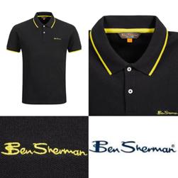 Ben Sherman ベンシャーマン / ラインポロシャツ Black