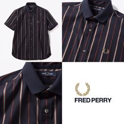 FRED PERRY フレッドペリー / リブカラーシャツ (F4526) Navy -送料無料-