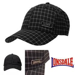 LONSDALE ロンズデール / チェックキャップ Black