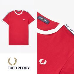 FRED PERRY フレッドペリー / テープドリンガーTシャツ (M6347) Siren