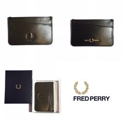 FRED PERRY フレッドペリー / コントラストインターナルレザーカードホルダー(L7219) Olive