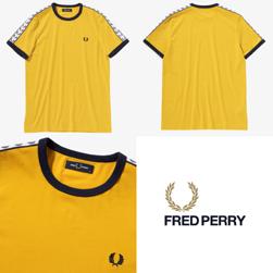FRED PERRY フレッドペリー / テープドリンガーTシャツ (M6347) Sunglow