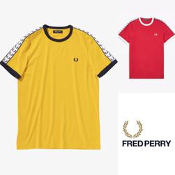 FRED PERRY フレッドペリー / テープドリンガーTシャツ (M6347) Sunglow & Siren