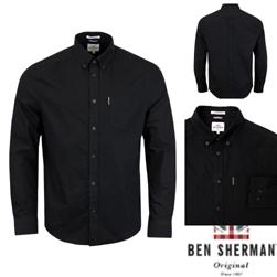 Ben Sherman ベンシャーマン / オックスフォードボタンダウンシャツ Black -送料無料-