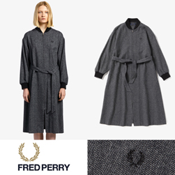 FRED PERRY フレッドペリー / レディースボンバーシャツドレス(F8521) Grey -送料無料-