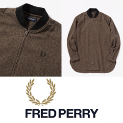 FRED PERRY フレッドペリー / ボンバーシャツ(F4532) Brown -送料無料-