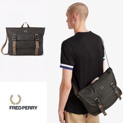 FRED PERRY フレッドペリー / アウトドアメッセンジャーバッグ(L7231) Black -送料無料-