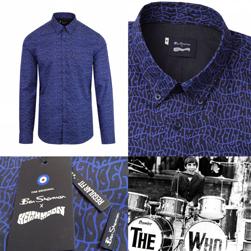 Ben Sherman x Keith Moon ベンシャーマンxキースムーン / キースムーンボタンダウンシャツ Ink Blue -送料無料-