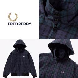 FRED PERRY フレッドペリー / フードデッドハリントンジャケット(F2601) Navy -送料無料-