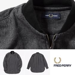 FRED PERRY フレッドペリー / ボンバーシャツ(F4532) Grey -送料無料-