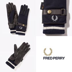 FRED PERRY フレッドペリー / レザーコンビグローブ(F19910) Navy