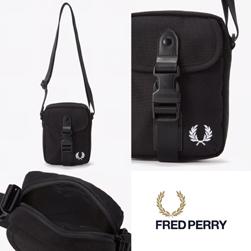 FRED PERRY フレッドペリー / スモールショルダーバッグ(F9587) Black