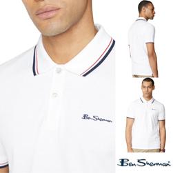 Ben Sherman ベンシャーマン / モッド シグネチャーポロシャツ White