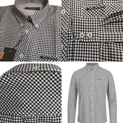 Ben Sherman ベンシャーマン / ギンガムチェックボタンダウンシャツ Black -送料無料-