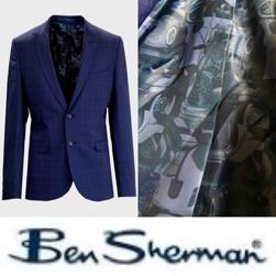 Ben Sherman ベンシャーマン / 60s モッド POWチェックテーラードジャケット Sapphire Blue -送料無料-