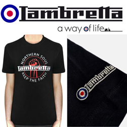 Lambretta ランブレッタ / ノーザンソウルTシャツ Black -送料無料-