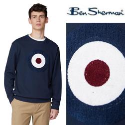 Ben Sherman ベンシャーマン / ターゲットマークスウェット Dark Blue -送料無料-