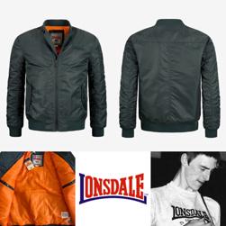 LONSDALE ロンズデール / スリムフィットMA-1ジャケット Olive -送料無料-