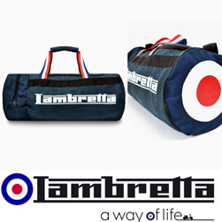 Lambretta ランブレッタ / ターゲットマークバレルバッグ Navy -送料無料-