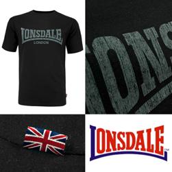 LONSDALE ロンズデール / ロゴプリントTシャツ(KAI) Black -送料無料-