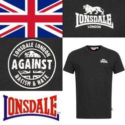 LONSDALE ロンズデール / アゲインストレイシズム&ヘイトTシャツ(WARLINGHAM) Black -送料無料-