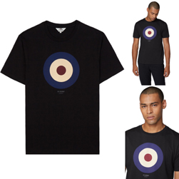 Ben Sherman ベンシャーマン / ターゲットマークTシャツ Black -送料無料-