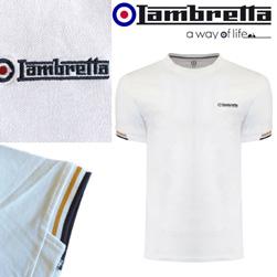 Lambretta ランブレッタ / ティップドピケTシャツ White